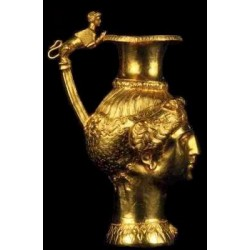 Chocolate pot with flowers
