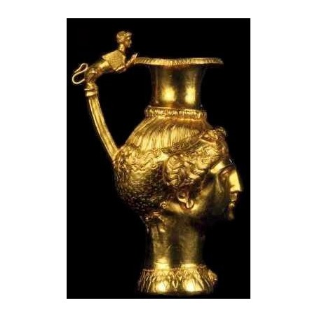 Chocolate pot with a flower