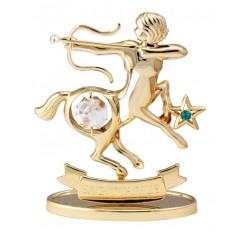 Златно шампанско + кристален бокал с лика на Богородица