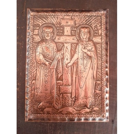Red wine with Virgin Mary's icon