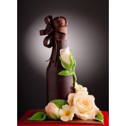 Червено вино с икона на Свети Василий